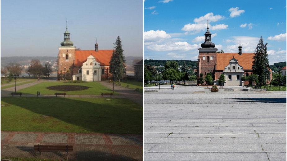 Stary Rynek we Włocławku przed i po rewitalizacji
