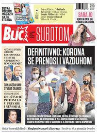 Blic, naslovna za 15.08.2020.