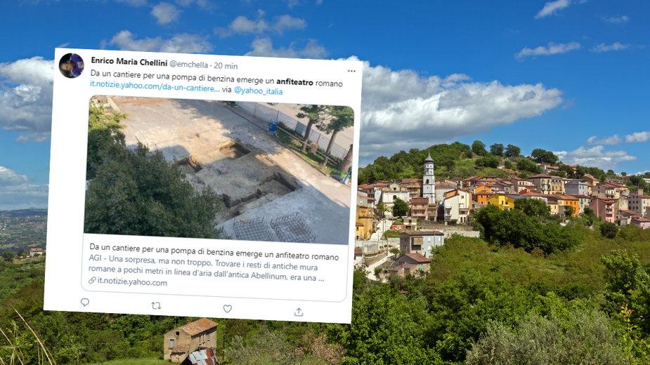 Znaleźli pozostałości rzymskiego amfiteatru podczas budowy stacji benzynowej