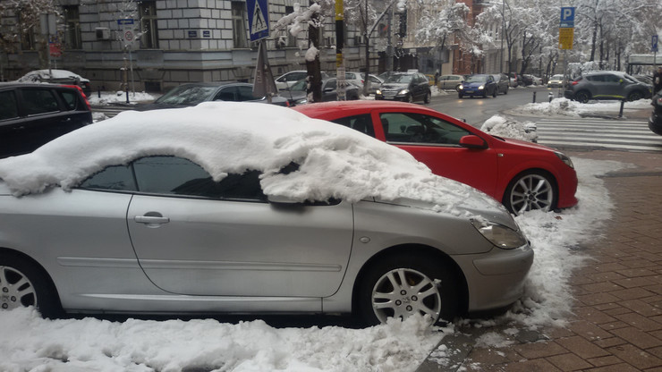 parking sneg