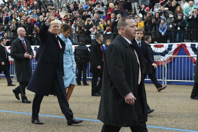 Melanija i Donald Tramp pre dva dana na paradi u Vašingtonu