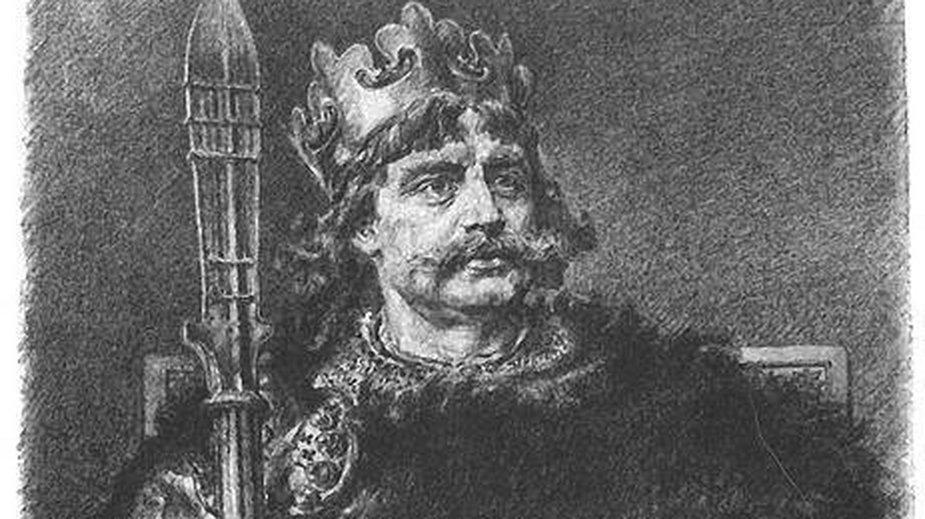 Bolesław Chrobry na rysunku Jana Matejki z cyklu Poczet królów i książąt polskich - domena publiczna