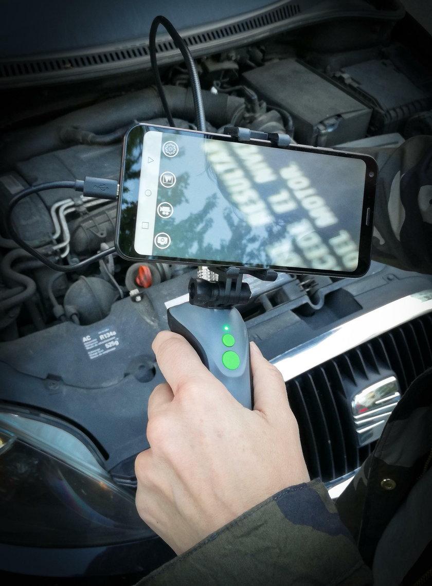 Test kamery inspekcyjnej z Biedronki