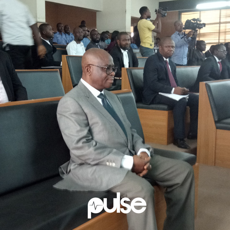Justice Walter Onnoghen during his sentencing in court on Thursday, April 18, 2019 (Pulse)