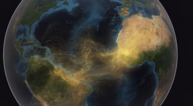 Pesak preleće Atlantik (FOTO:NASA)