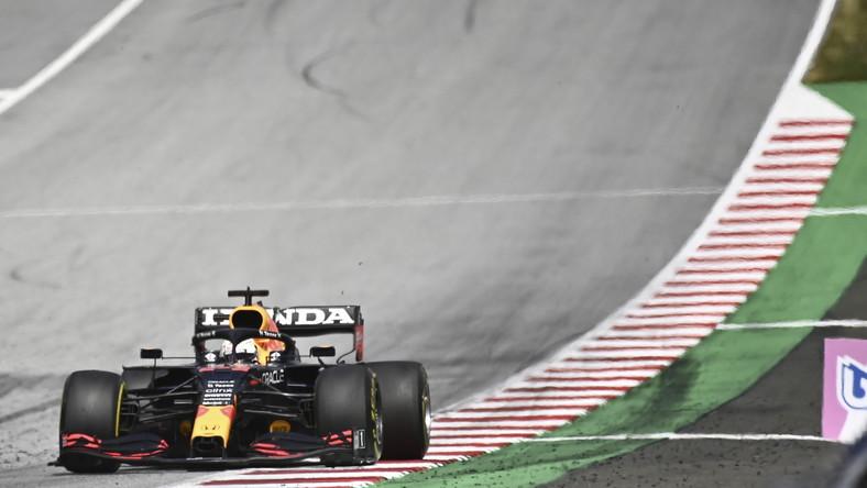 Max Verstappen podczas wyścigu o GP Styrii