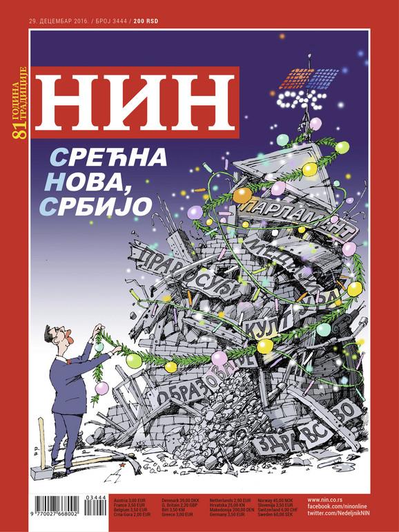 Naslovna strana novogodišnjeg broja NIN-a