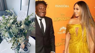 Beyonce surprises Ghana's Guilty Beatz with flowers and special message