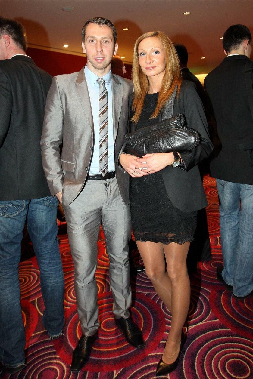 Jakub Wawrzyniak i jego żona Karolina