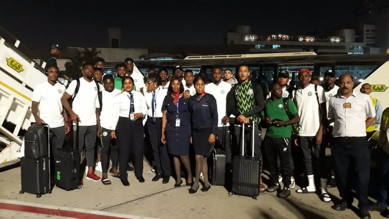 Super Eagles of Nigeria have arrived in Egypt for second phase of camping ahead of AFCON 2019 (Twitter/Super Eagles)