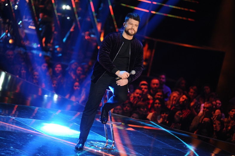 "Marcin Sójka na planie programu ""The Voice of Poland"" (2018)"