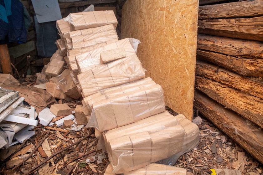 Drewno przygotowane na zimę
