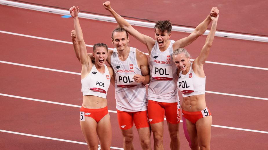 Natalia Kaczmarek, Karol Zalewski, Justyna Święty-Ersetic i Kajetan Duszyński