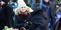 Małgorzata Tusk na świątecznych zakupach na ryneczku
