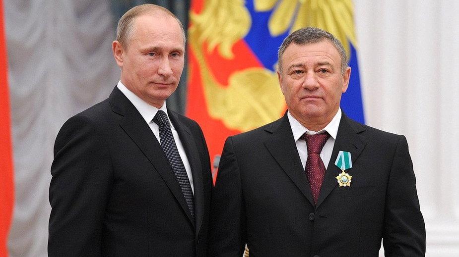 Władimir Putin i Arkadij Rotenberg (zdjęcie z 2013 r.)