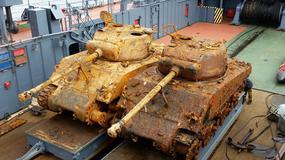 Rosyjska marynarka wojenna wydobyła z morskiego dna dwa czołgi Sherman