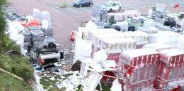 Dramat w Bytomiu. Auto spadło ze skarpy