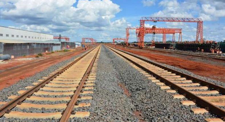 Standard gauge railway under construction