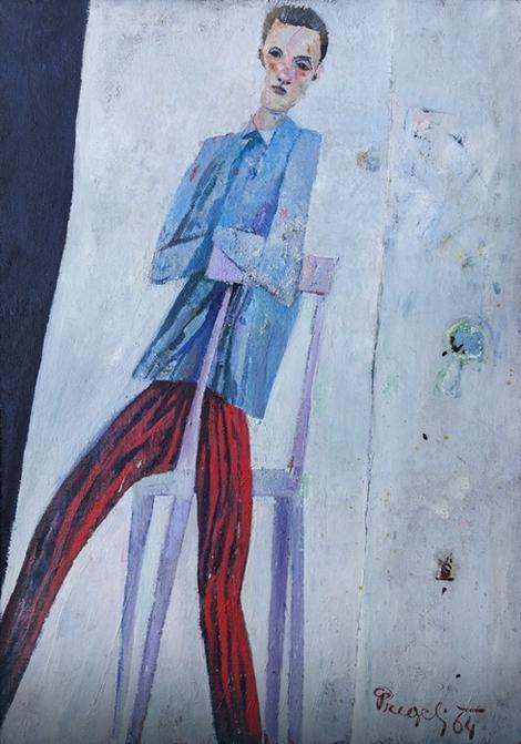 """Matij Pregelj, """"Portret sina u prugastim pantalonama"""" (1964) iz zbirke MSUB"""