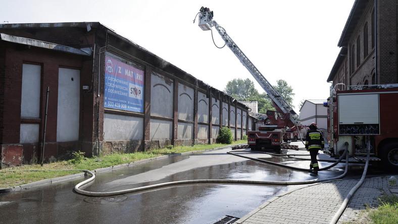 Strażacy na miejscu pożaru w Chorzowie