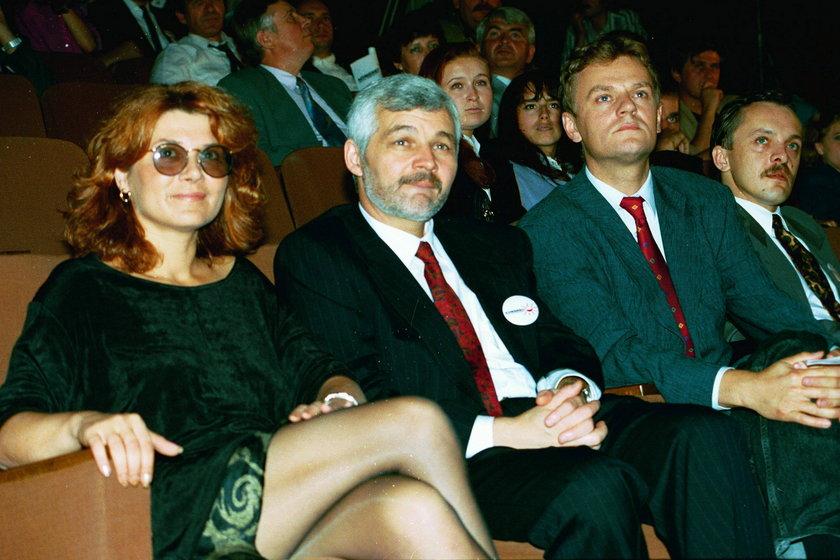Jan Krzysztof Bielecki, były wicepremier z byłą żoną