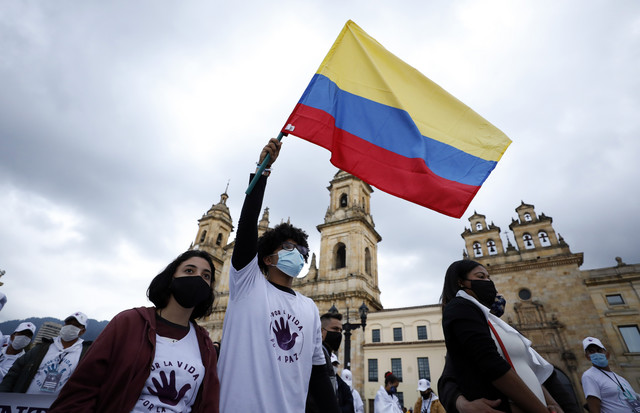 Protest bivših članova FARK-a u Bogoti u novembru