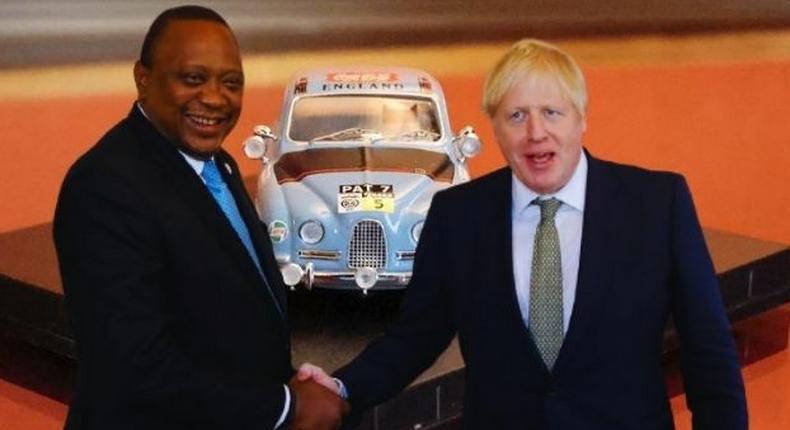 President Uhuru Kenyatta and UK Prime Minister Boris Johnson