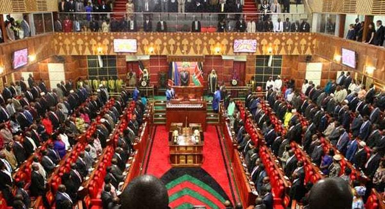 File image of legislators in the National Assembly