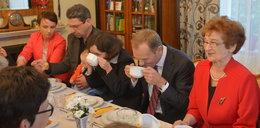 Premier Tusk na obiedzie w...