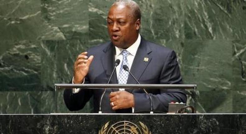 Ghana President John Dramani Mahama....