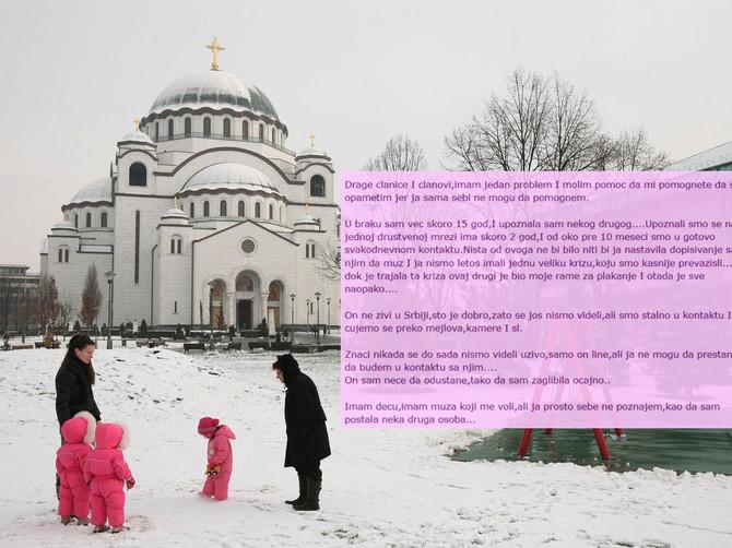 Beograd zimi / Ilustracija