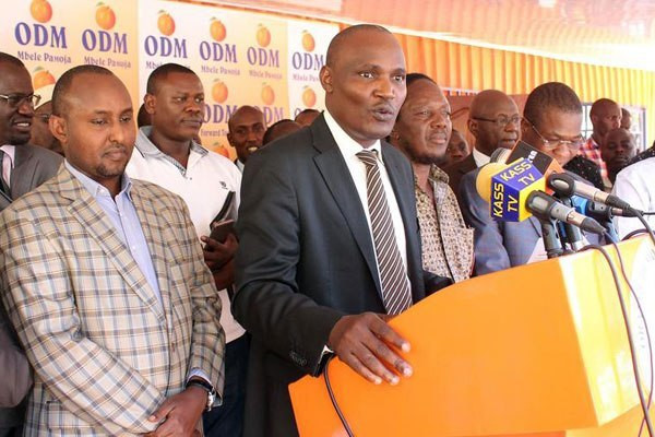 John Mbadi addressing the press at a past event