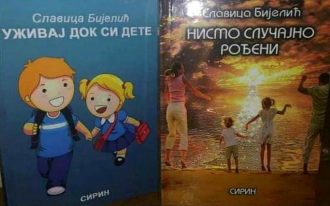 """Slavica je autorka dveju zbirki priča i pesama za decu """"Uživaj dok si dete"""" i """"Nismo slučajno rođeni"""""""