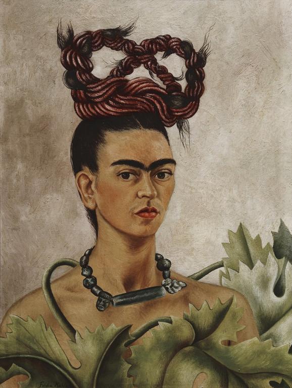 Autoportret sa pletenicom, 1941