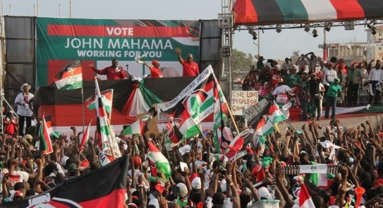 Some supporters of the NDC