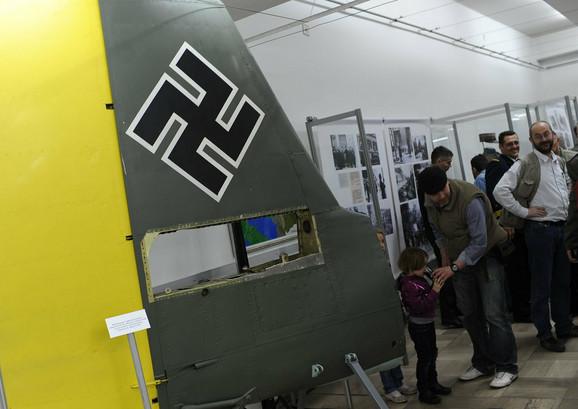 Deo nemačkog borbenog aviona Ju-87 B2