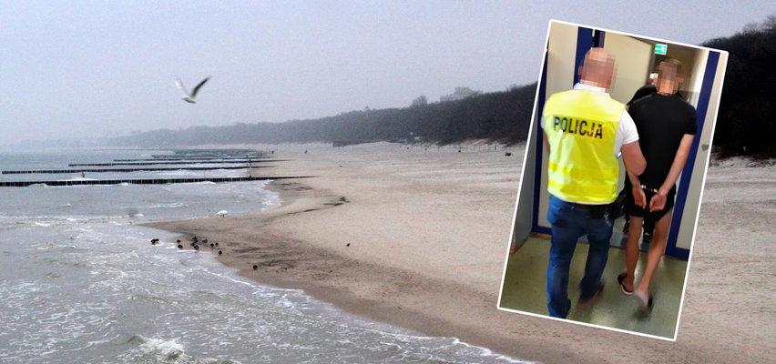 Horror na plaży w Łebie. Młodzi mężczyźni zaatakowali sprzedawcę przekąsek. Poszło o...
