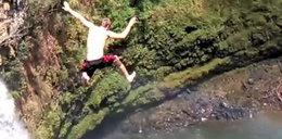 Chłopak rzucił się z 60-metrowego wodospadu i przeżył