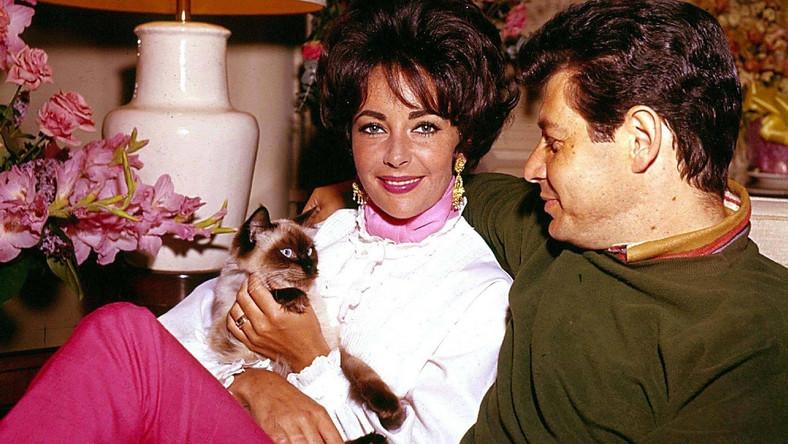 Elizabeth Taylor z mężem Eddie Fischerem
