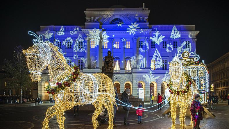 Inauguracja iluminacji świątecznej w Warszawie