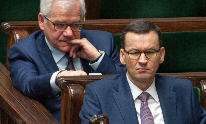 Jacek Czaputowicz i Mateusz Morawiecki