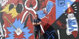 Ten mural robi ogromne wrażenie, jest długi na 43 metry