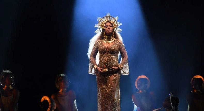 Beyonce at 2017 Grammy Awards
