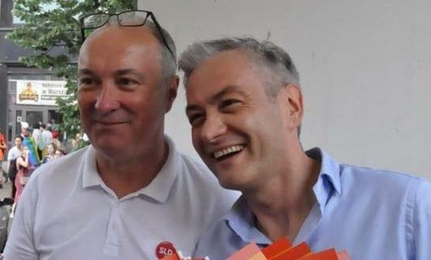 Robert Biedroń i Włodzimierz Czarzasty w czasie Parady Równości