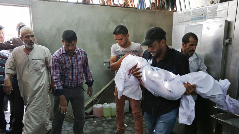 Dzieci wśród ofiar izraelskich nalotów w Strefie Gazy