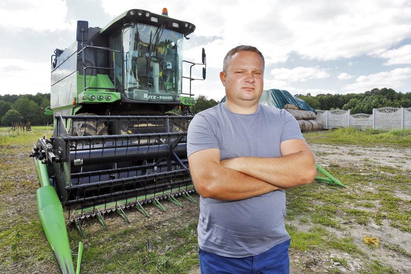 Marcin Szkliniarz (37 l.), rolnik