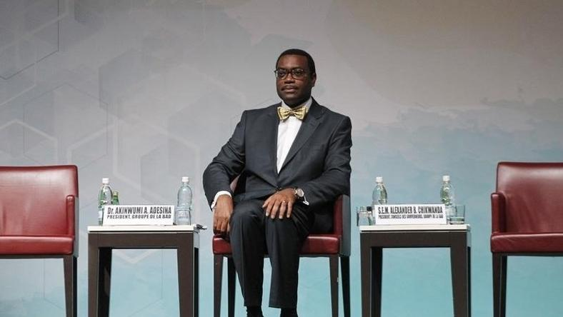 The new president of the African Development Bank (AfDB) Akinwumi Adesina of Nigeria sits during his investiture ceremony in Abidjan on September 1, 2015.  REUTERS/Luc Gnago