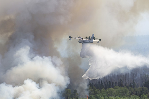 Najnaseljeniji deo Aljaske je i dalje pod dimom