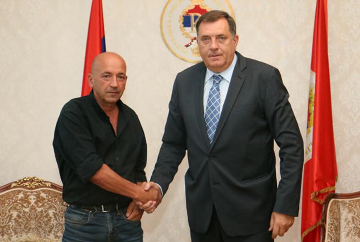 Bogdan Djukic Lopov Milorad Dodik prijem