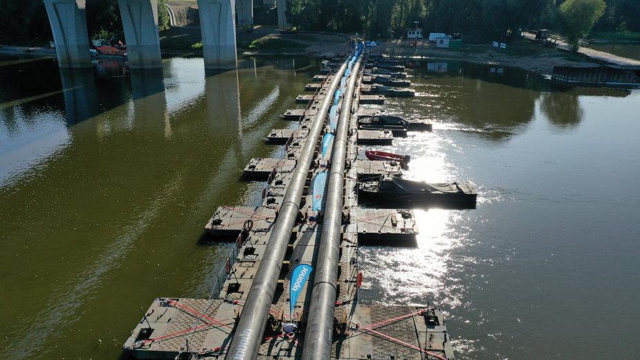 Kolektor ściekowy w okolicach mostu Marii Skłodowskiej-Curie w Warszawie